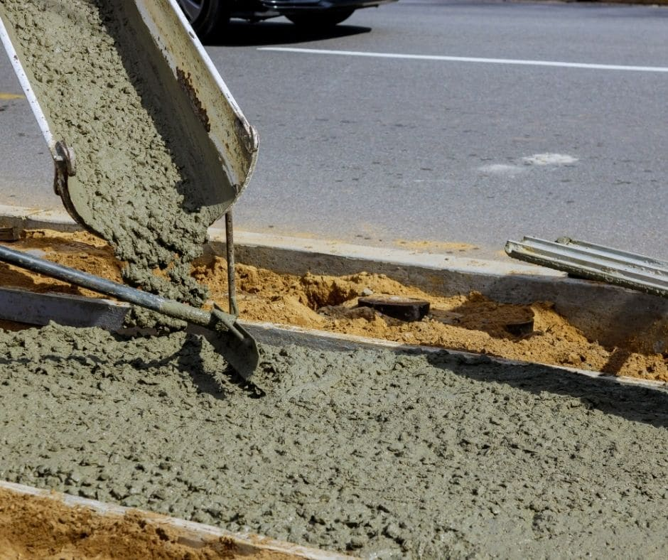 Side walk being poured in Atlanta