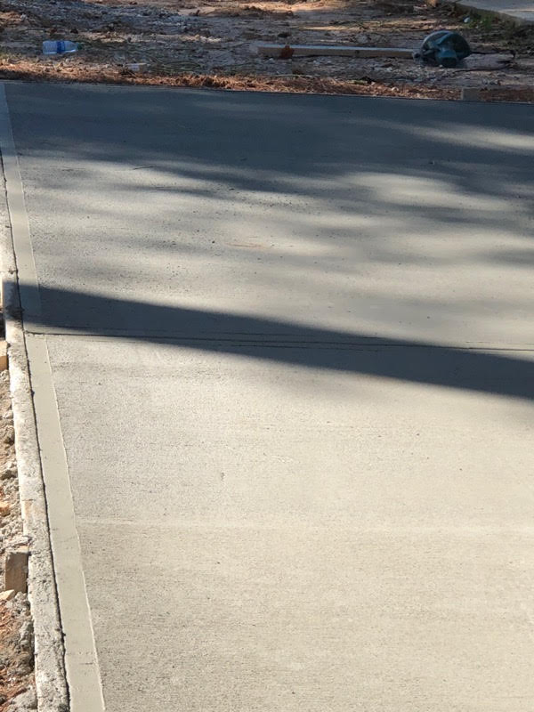 New Concrete Driveway in Sandy Springs