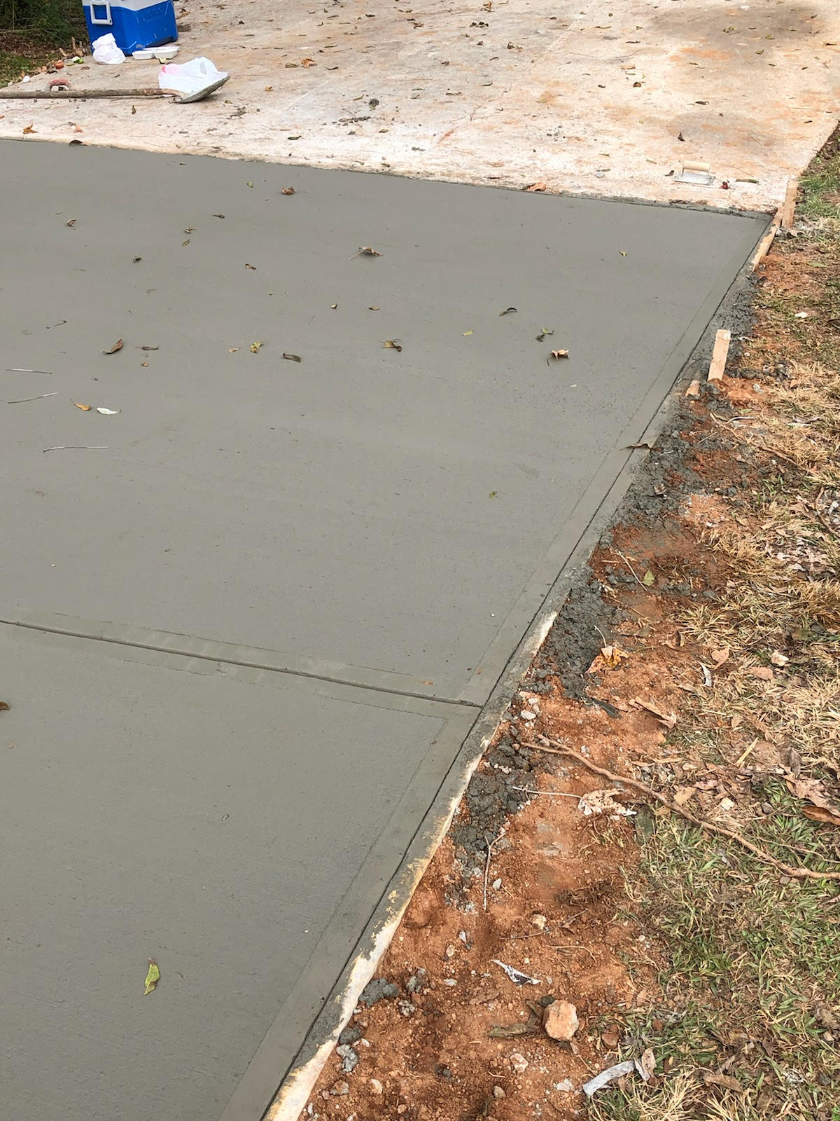 After we poured new concrete